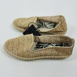 DV Tan raffia shoes